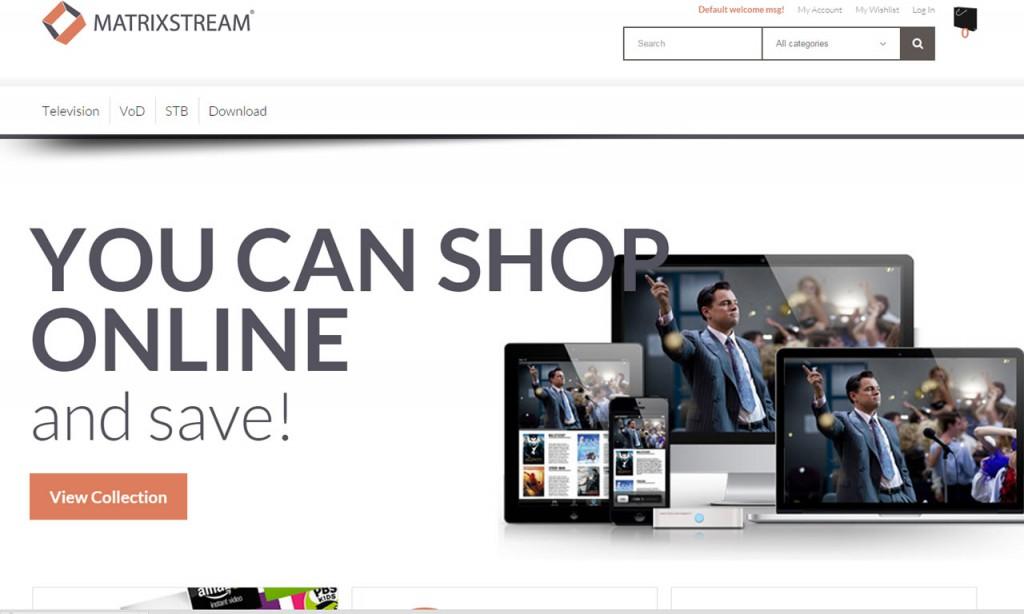MatrixCloud IPTV Web Portal Design 4