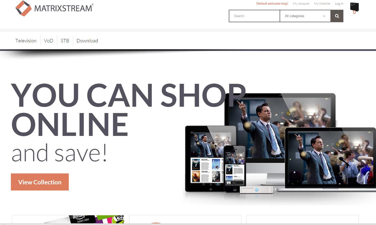 MatrixCloud IPTV e-commerce Web Portal 4