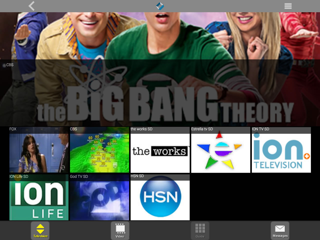 IMX 1101 Android IPTV Player Screen Shot 2