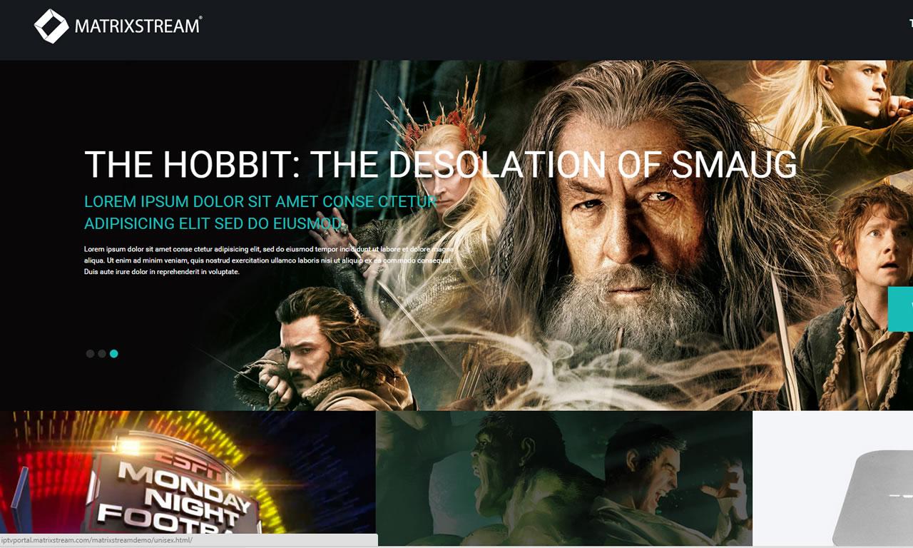 MatrixCloud IPTV Web Portal Design 1